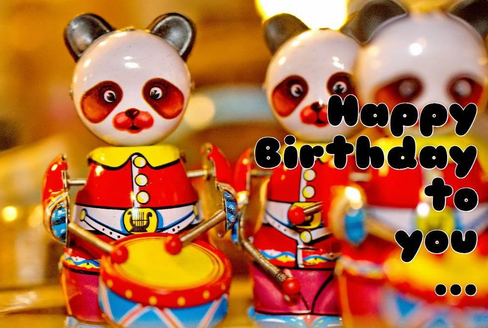 Happy Birthday, Geburtstagskarte