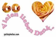 Danke 60. Herz, Liebe, Valentinstag, Rose