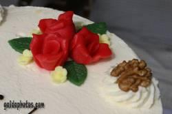 Kommunion Motiv Kuchen, rose