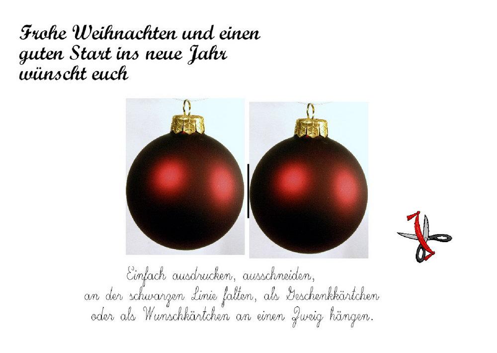 Frohe weihnachten karten - Bilder weihnachtskarten ...