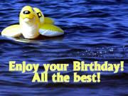 Geburtstagskarte Gummitier Englisch