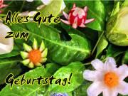Geburtstagskarte Gemüse Blüten