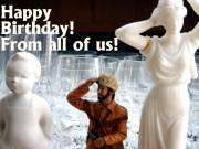 Geburtstagskarte Großstadtindianer Englisch