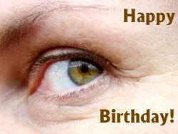 Geburtstagskarte Auge grün Englisch