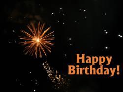Geburtstagskarte Feuerwerk Englisch