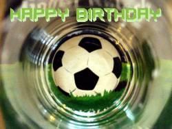 Geburtstagskarte Fußball Englisch