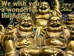 Geburtstagskarte Buddha Englisch