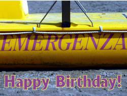 Grußkarte zum Geburtstag selbst basteln Rettungsboot
