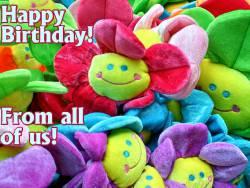 Grußkarte zum Geburtstag selbst basteln Smiley Englisch