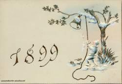 alte Neujahrskarten