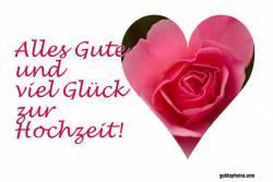 Karte Hochtzeitstag Herz, Liebe, Valentinstag rote Rose