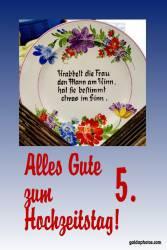 5. Hochtzeitstag Hochtzeitskarte Gedicht Holzhochzeit