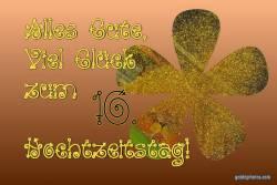 Rosenhochzeit, Karte 10.Hochtzeitstag Goldkonfetti