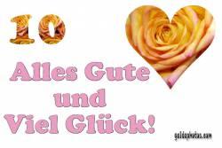 10. Hochzeitstag Holzhochzeit Herz, Liebe, Valentinstag, Rose