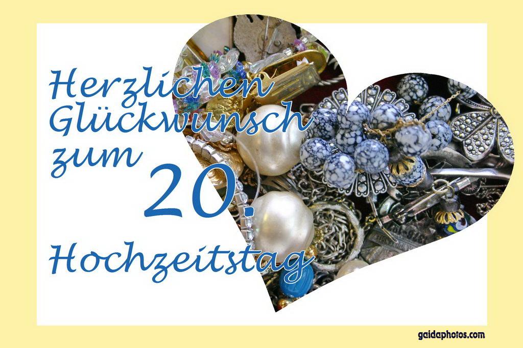 20 Hochzeitstag Sprüche Gedichte Glückwünsche Zum