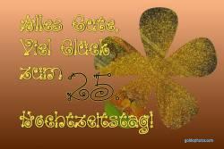 25 Hochzeitstag Goldkonfetti