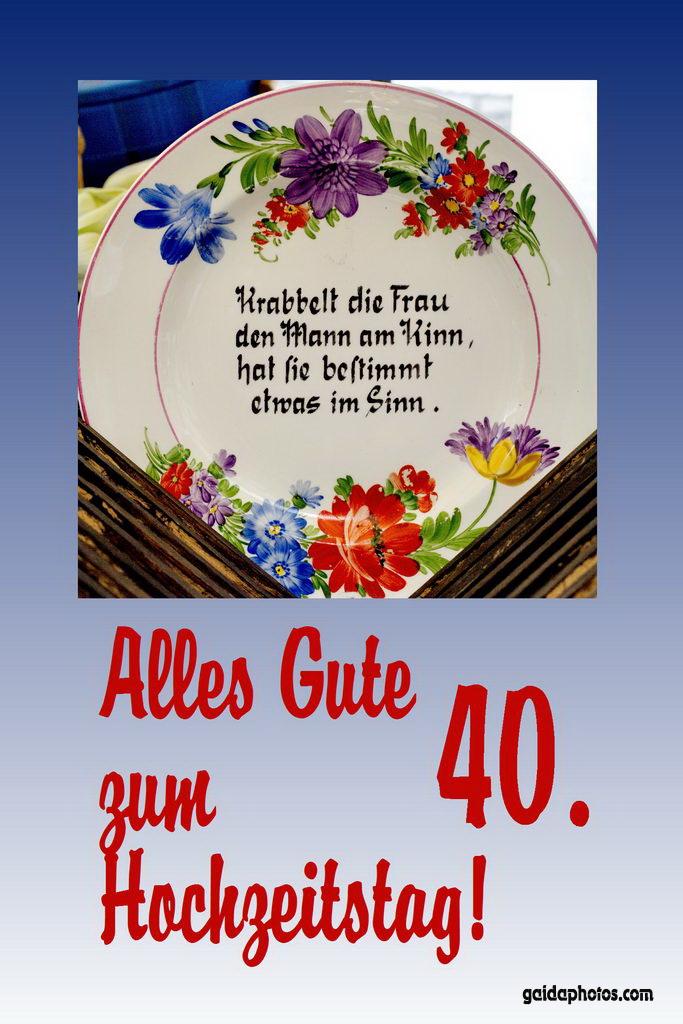 40 Hochzeitstag Rubinhochzeit