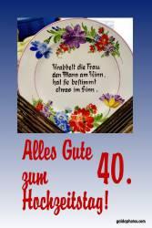 40. Gedicht Rubinhochzeit