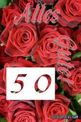50 rote Rosen