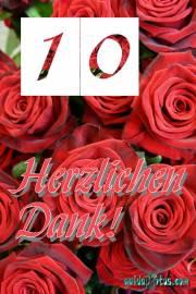 Danke 10. rote Rosen
