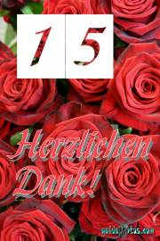 Danke 15. rote Rosen
