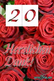 Danke 20. rote Rosen