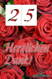 Danke  25.   rote Rosen