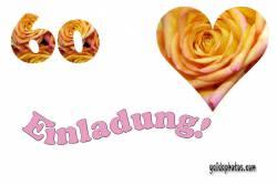 Einladung  60. Herz, Liebe, Valentinstag, Rose