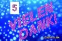 5 Jubiläum: Dankeskarten kostenlos