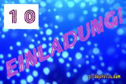 10. Einladung blaue Sphären