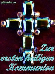 Kommunionkarte, Kreuz