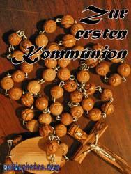 Kommunionkarte, Rosenkranz