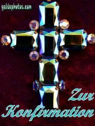 konfirmationskarte Kreuz