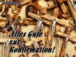 konfirmationskarte Kruzifix