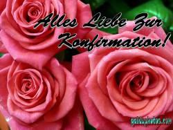 Konfirmationskarten Rose