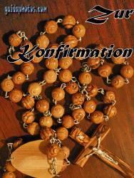 konfirmationskarte Rosenkranz