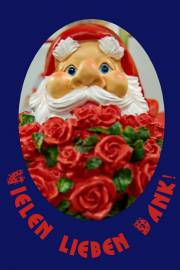 Danke Zwerg mit Rose
