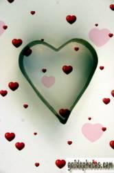 muttertagskarte Herz auf Herzchen