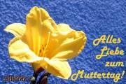 Muttertagskarte Blüte gelb