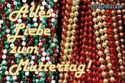 Muttertagskarte Perlen gold rot