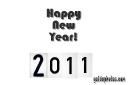 Neues Jahr 2011 Grusskarten