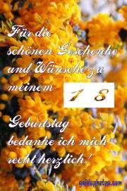Danke 18. gelbe Blüten