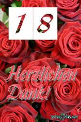 Danke 18. rote Rosen