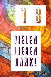 18 Geburtstag Danksagungskarten