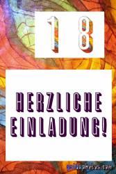 kostenlos Einladungskarten zum 18. Geburtstag