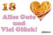 18. Geburtstag: Rose Herz, Liebe, Valentinstag Liebe