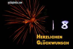 18. Geburtstag: Feuerwerk