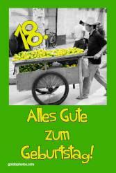 18. Geburtstag - Karte - Zitrone