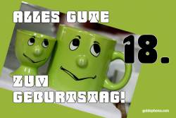 18. Geburtstag - Karte - Augenrollen