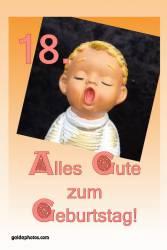 18. Geburtstag - Karte - Engel singt